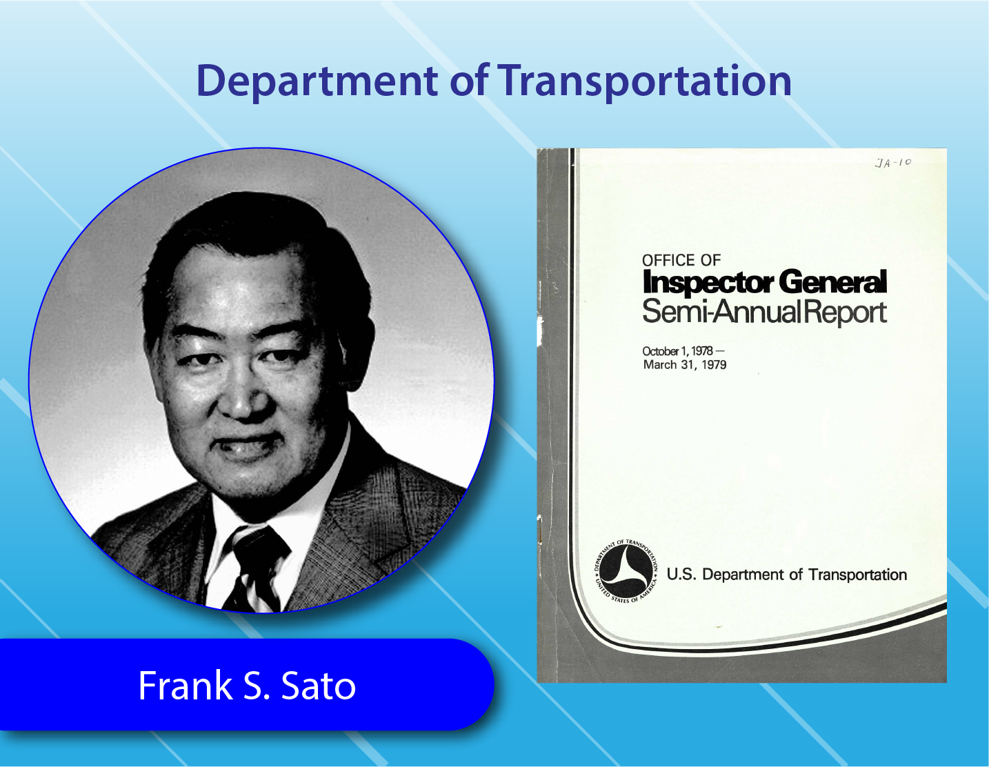 Department of Transportation - Frank S. Sato