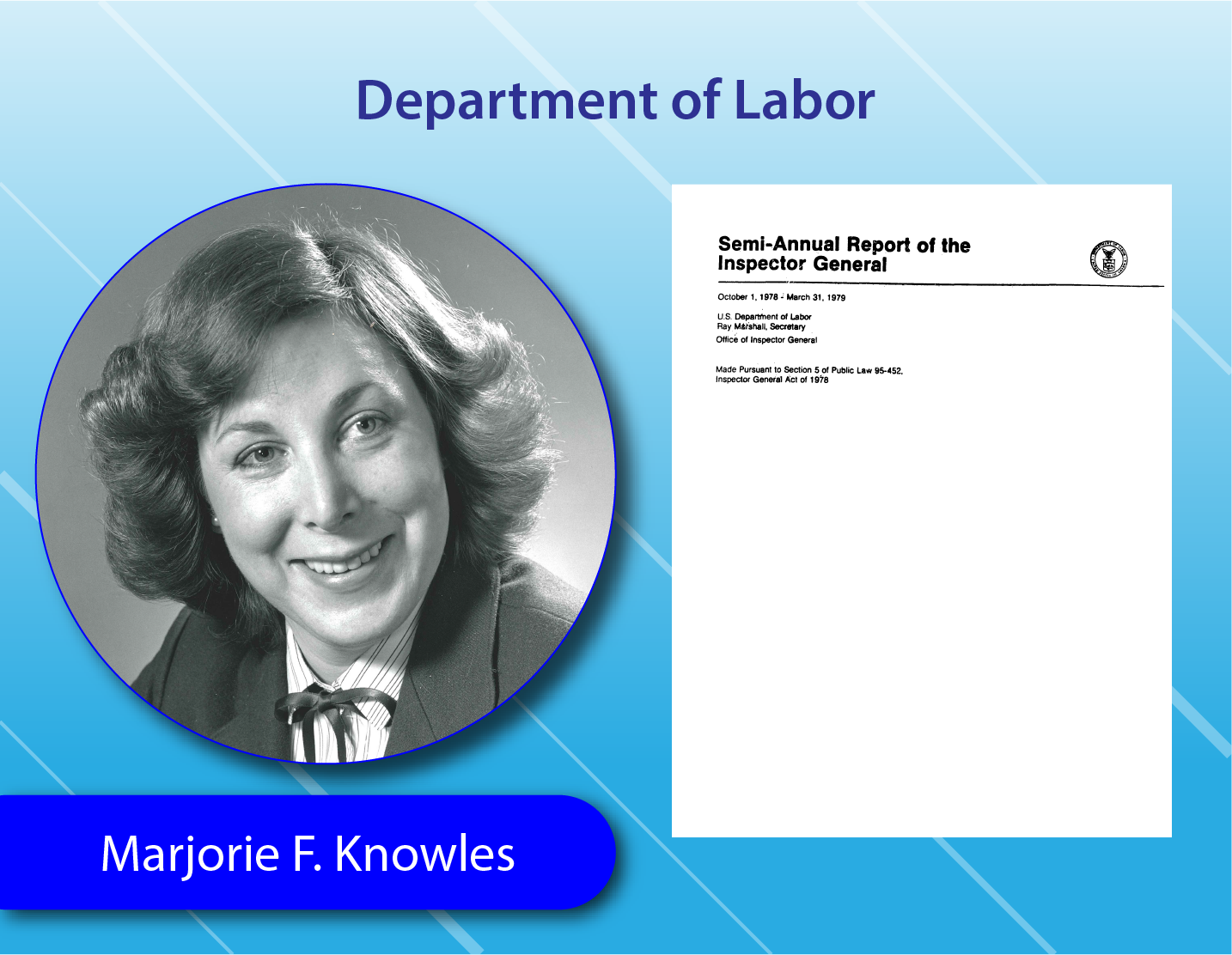 Department of Labor - Marjorie F. Knowles