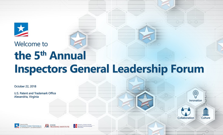 The 5th Annual Inspectors General Leadership Forum