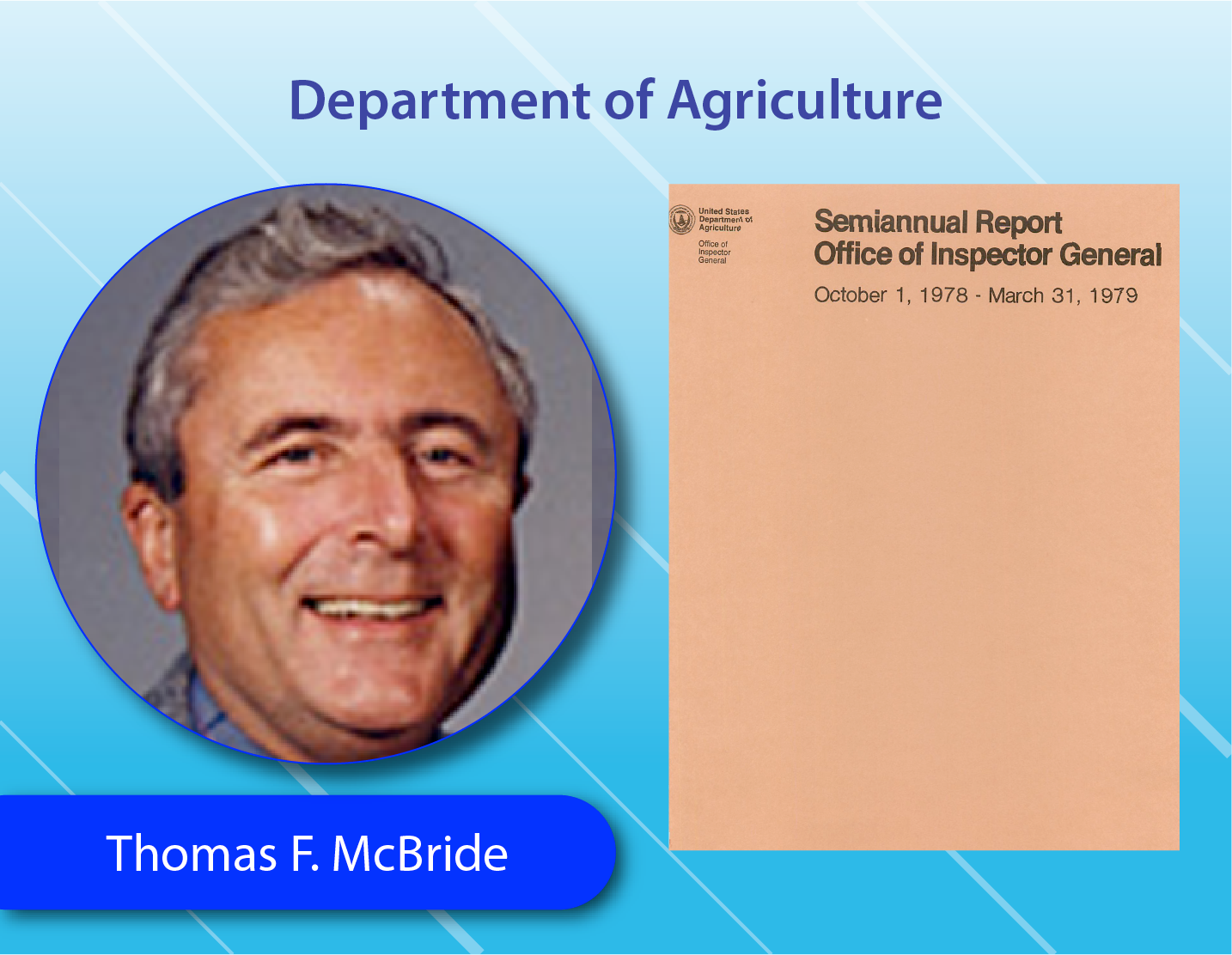 Department of Agriculture - Thomas R. McBride