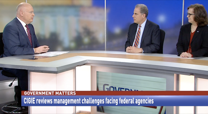 IGs Horowitz and Lerner are interviewed about the report on Government Matters on April 19, 2018.